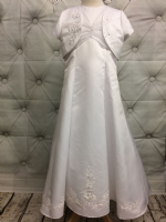 Communion Dress with Floral Embroidery